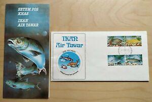 1983-Malaysia-Fresh-Water-Fish-4v-Stamps-FDC-Kuala-Lumpur-postmark-Lot-A