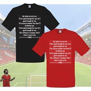 48d3439c8c65 New Adults Kids Mens Boys Unisex Liverpool Mo Salah Chant T-Shirt ...