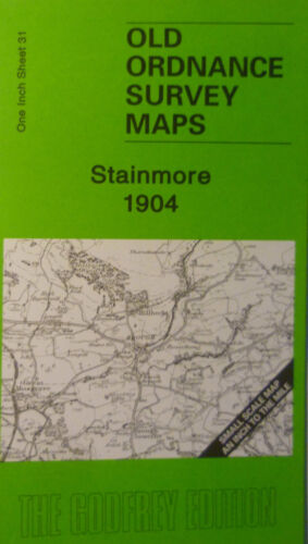 Old Ordnance Survey Map Stainmore Brough Warcop Lune Moor /& Map Brough 1904 S31