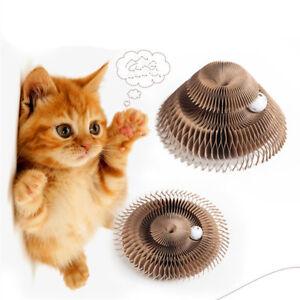 Cuencos Juguetes Papel De Tablero De Poste De Rasguño De Gato Con Campana Top