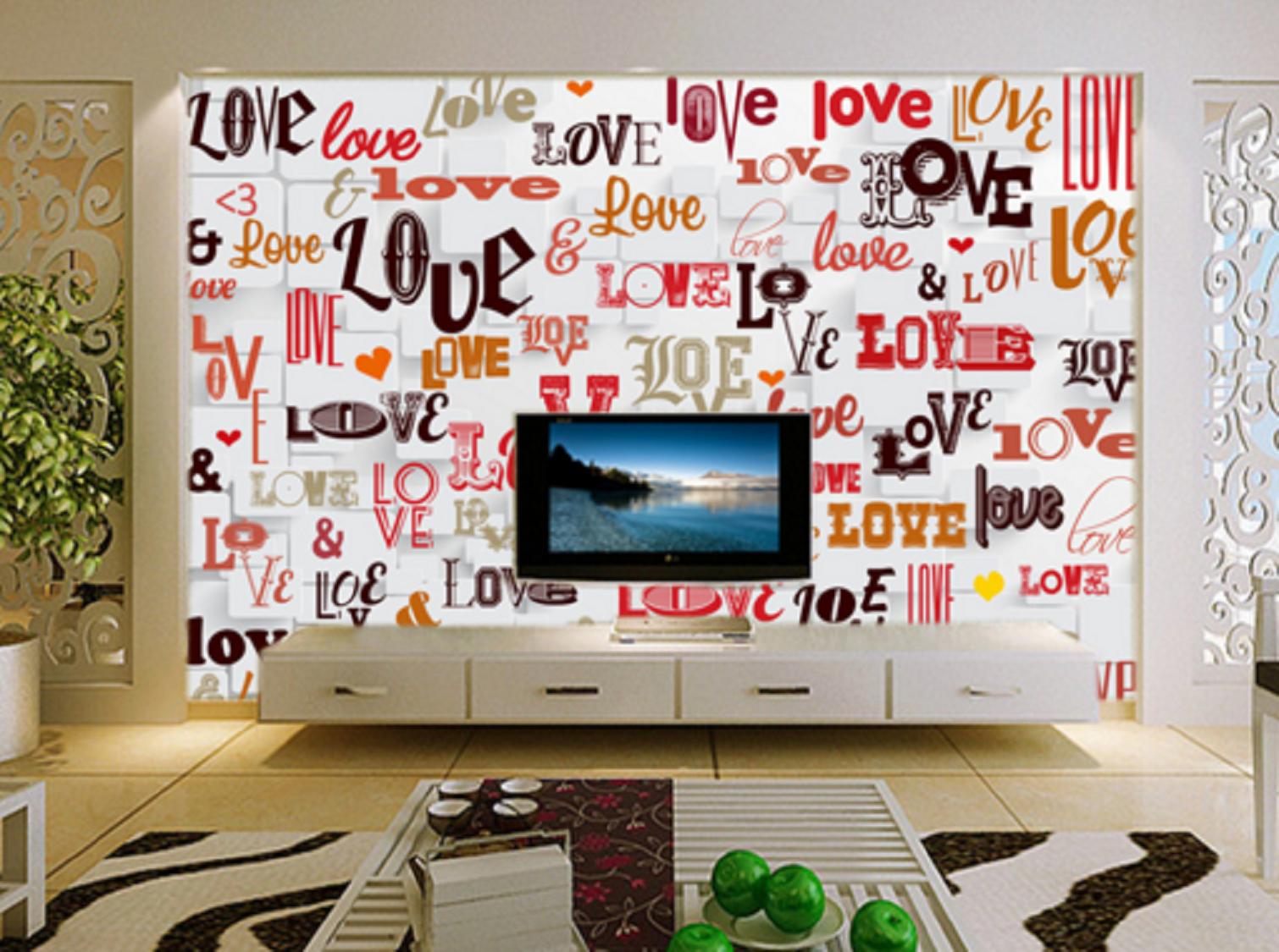 3D Love Buntes Gekritzel 56 Tapete Tapeten Mauer Foto Familie Tapete Wandgemälde