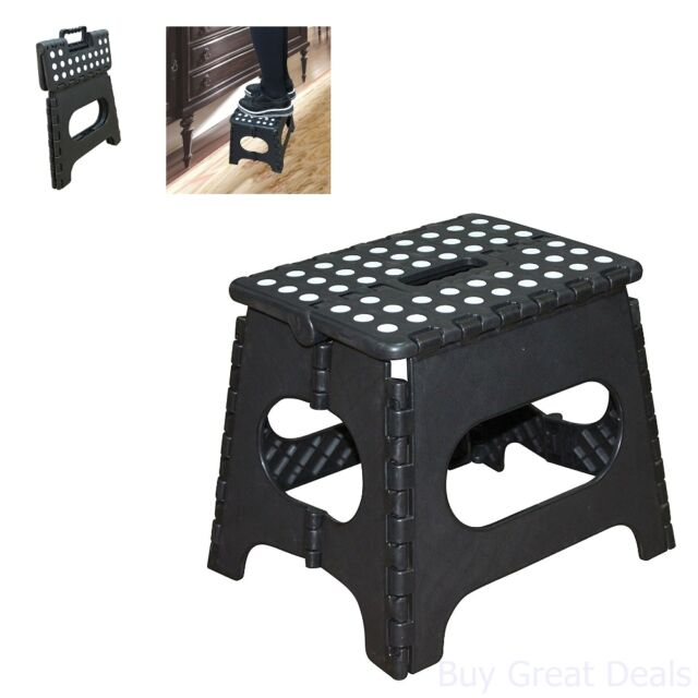 Cool Step Stool Black Jeronic 11 Inch Plastic Folding Kitchen Gmtry Best Dining Table And Chair Ideas Images Gmtryco