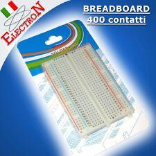 BASETTA SPERIMENTALE 400 CONTATTI / PUNTI / FORI BREADBOARD ARDUINO Tie-points