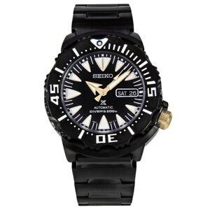 Seiko-Black-Monster-Gen-2-200M-Diver-039-s-Men-039-s-Watch