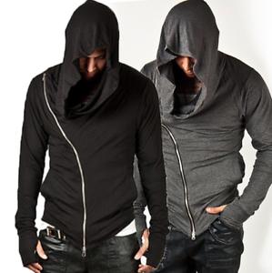 Men-039-s-Long-Sleeve-Hooded-Casual-Jacket-Zipper-Hoodie-Coat-Sweatshirt-Slim-Tops