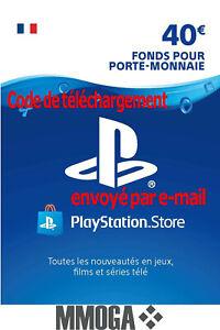 €40 EUR Carte PlayStation Network - 40 EURO PSN Code Jeu - Compte français - FR