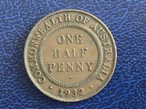 AUSTRALIAN-1932-HALF-PENNY-VERY-FINE