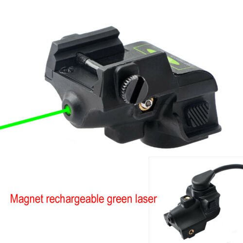 Magnetic Rechargeable Green Laser Sight Rifle Dot W// Adjustable 20mm Rail Mount