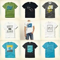 Hollister Guys Men T Shirt Size S M L Xl Tees White Orange Green Navy Gray