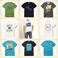 Hollister Guys Men T Shirt Size S M L Xl Tees White Orange Green Navy Gray
