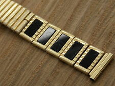 """Vintage yellow gold filled Speidel center expansion watch band 17.5mm or 11/16"""""""