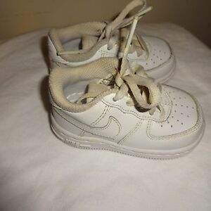 NIKE AIR FORCE ONE LEATHER LITTLE BOY'S