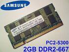 2GB DDR2-667 PC2-5300 667MHz SAMSUNG M470T5663EH3-CE6 MEMORIA PORTATILE RAM