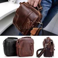 Men's Genuine Leather Satchel Tote Shoulder Messenger Bag Handbag Briefcase