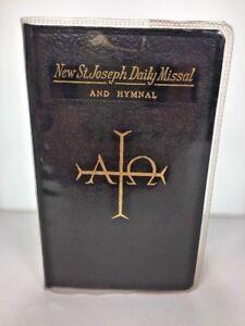 New-St-Joseph-Daily-Missal-Black-1966-Catholic-Prayer-Hymnal-Clear-Cover
