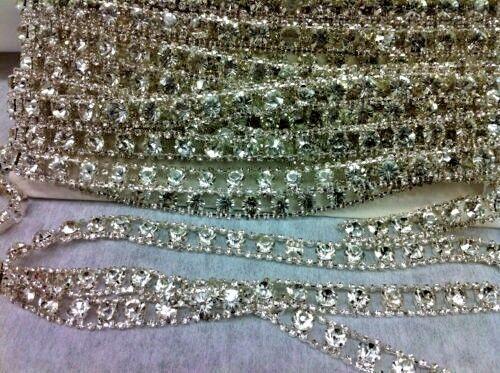 DIAMANTE GLASS TRIMMING BRIDAL TRIM RHINESTONE BEST QUALITY