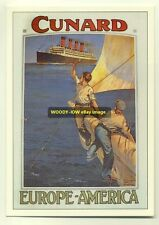 ad2030 - Cunard Line - Liner Mauretania - modern advert postcard
