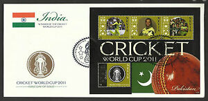 NEVIS-2011-ICC-CRICKET-WORLD-CUP-PAKISTAN-TEAM-SHOAIB-AKHTAR-4v-Sheet-FDC