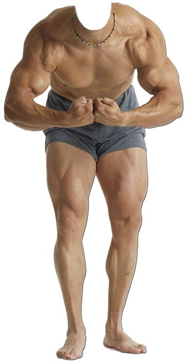 Sc-699 Muscle-Man Stand-In Selfie Hauteur 182cm Présentoir en Cocheton Figurine