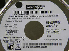 500 GB Western Digital WD5000AACS-00ZUB0 / DARCNVJCAN / 2060-701444-004 REV A