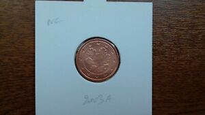 allemagne pièces neuves 2 cents 2003 5 ateliers (1 et 5 cents n'existent pas)