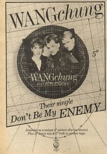 9-7-83PN22-ADVERT-WANCHUNG-THEIR-SINGLE-DONT-BE-MY-ENEMY-10X7