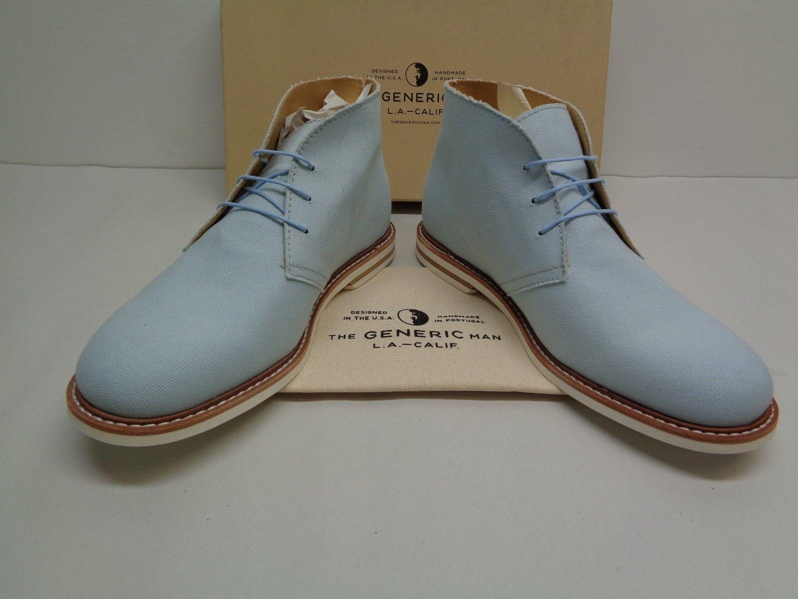Generic Man Surplus Größe 10 FLORENTINE FLORENTINE FLORENTINE Blau Canvas Ankle Stiefel New Mens schuhe 9907a9