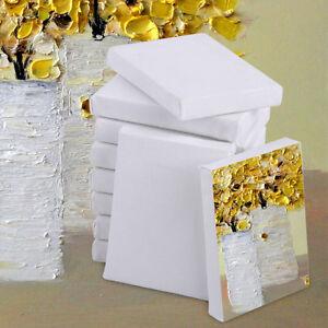 10stk-Mini-Leinwand-auf-Keilrahmen-Baumwolle-Leinwaende-Canvas-Acrylfarbe-7x5cm