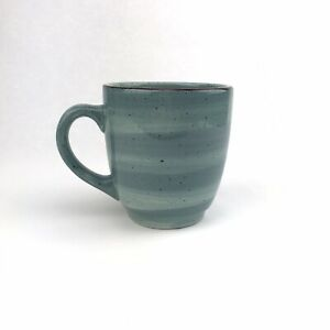 16-oz-Hausenware-Blue-Green-Twist-Swirl-Large-Coffee-Tea-Mug-Cup-w-Brown-Accent