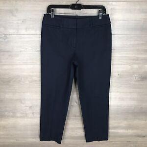 Ann-Taylor-LOFT-Women-039-s-Size-6-034-Julie-034-Slim-Ankle-Fit-Pants-Navy-Blue-Cotton