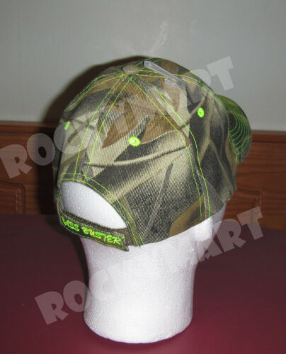 Bass Buster Fishing Trucker Camo Cap With Without Mesh Adjustable Strap RM3002