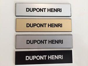 Plaque-de-boite-aux-lettres-1-ligne-10x2-5-cm-gravure-laser-couleurs-au-choix