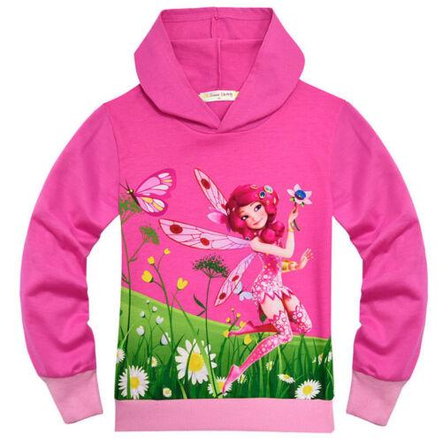 Mia and Me Girls Hoodies Cartoon Print Long Sleeve Hooded T-shirt Tops Hoodies