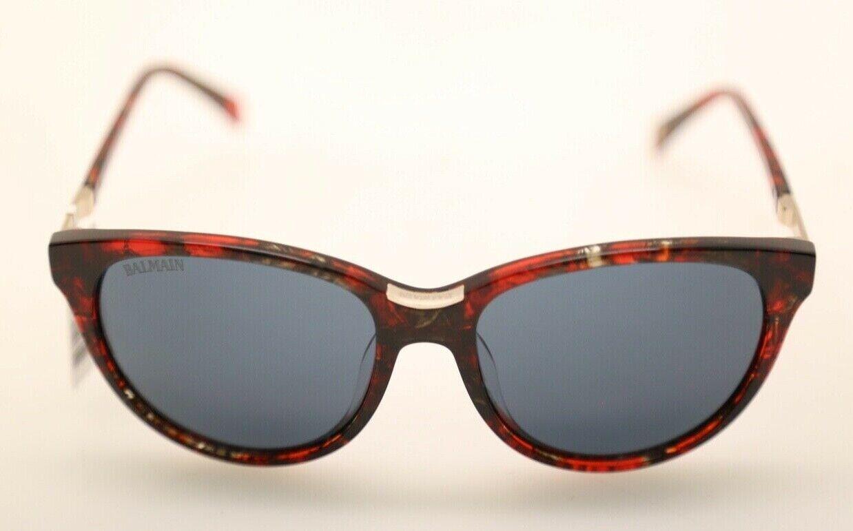 Balmain BL2100 C02 Red Tortoise w/ Grey Lenses 54mm Sunglasses (#679)