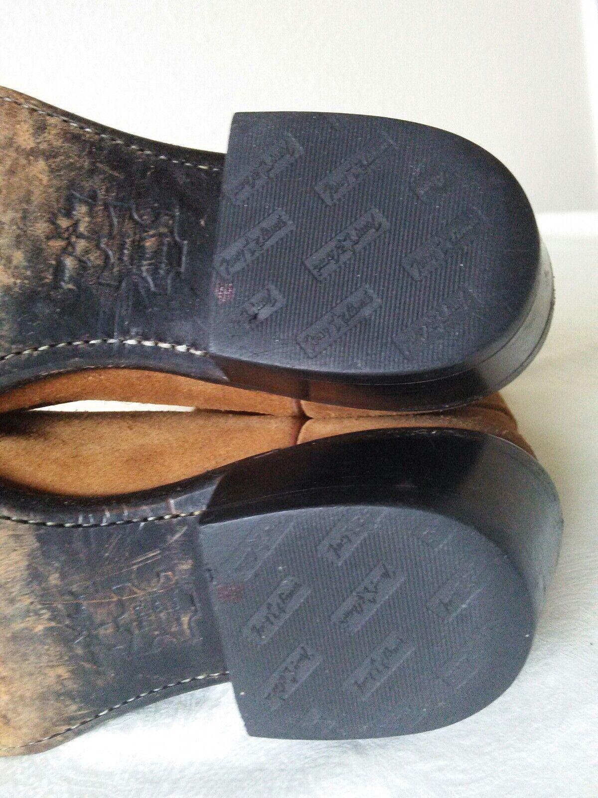 TONY LAMA Chestnut Braun Suede Lady cowboy/western pointed toe boots Größe 7.5 D