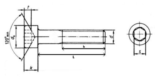 10x DIN912 M6x120 BLACK ALLOY CLASS 12.9 Allen Bolt Hex socket head cap screw