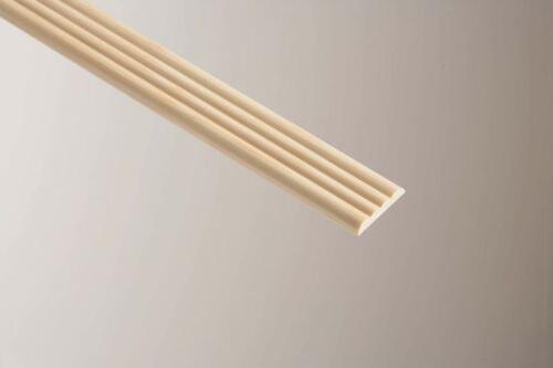 8 Length 1.2Meterx 34mmx6mm Hardwood Reed Moulding For Doors Finishing Dado.