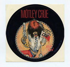 "Motley Crue Sticker Decal 4 3/8"" Diameter 1984 Vintage"