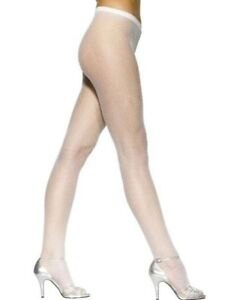 fa2a18ff62270 Ladies 80s 1980s Fishnet Tights White Sexy Fancy Dress Hen New by ...