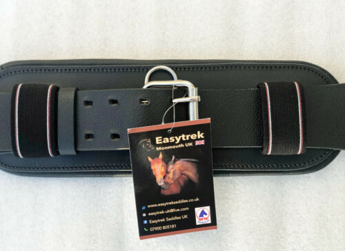 Short dressage girth fully adjustable black or brown premium leather
