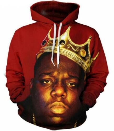 New Fashion Women//Men notorious b.i.g 3D Print  Pullover Hoodie Sweatshirt ST6