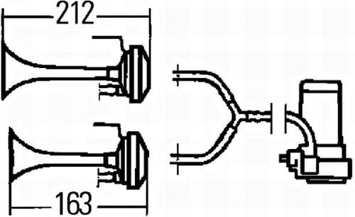 HELLA Air Electric Horn 24V 780Hz 3PB003001-661