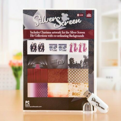 My Craft Studio Charisma SILVER SCREEN USB By Tattered Lace Artwork //Backgrounds
