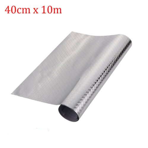 Self Adhesive Drawer Shelf Liner Aluminum Foil Paper Oil Proof Roll Kitchen Use~