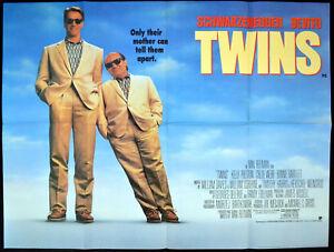 Twins 1988 Arnold Schwarzenegger Danny De Vito Uk Quad Poster Ebay