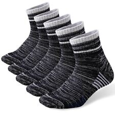 YUEDGE Mens Breathable Cotton Cushion Crew Sports Hiking Walking Socks Winter Thick Thermal Work Socks 6-11 9-12 3 Multipack