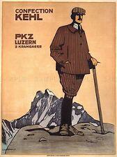 SWITZERLAND ALPINE CONFECTIONARY SWEET VINTAGE RETRO ADVERTISING POSTER 1519PYLV