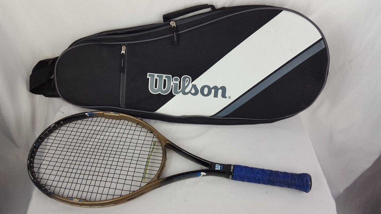 Wilson  Pro Staff 4.0 Martillo sistema tenis raqueta 4 3 8 con 2 Raqueta Bolsa De Transporte  orden en línea