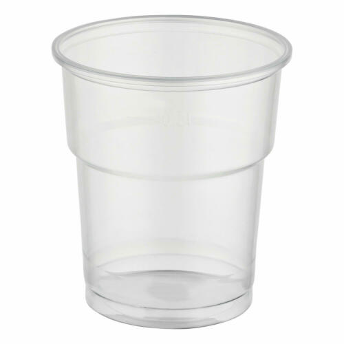 Potable tasse clair 0,2 L 200ml pp extra fort ø 78 mm jetable gobelet stable louche