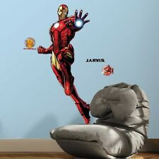 New IRON MAN WALL DECALS Marvel Avengers Ironman Stickers Glow in the Dark 51""